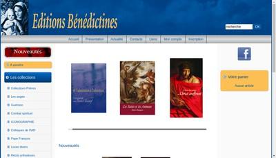 Site internet de Editions Benedictines SARL