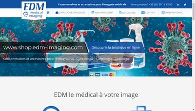 Site internet de Euro Diffusion Medicale