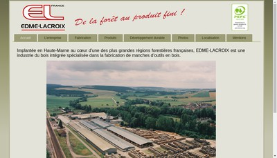 Site internet de Edme Lacroix SA