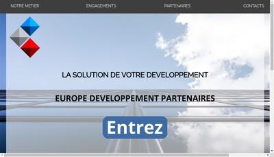 Site internet de Europe Developpement Partenaires