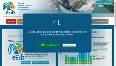 Site internet de Regie Electrique du Brianconnais