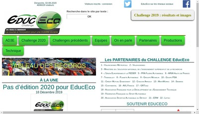 Site internet de Association pour le Developpement d'Epreuves Educatives sur l'Eco-Mobilite
