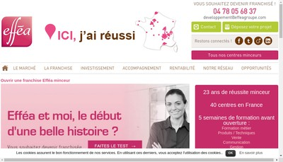 Site internet de Effea France Evasion Amincissement