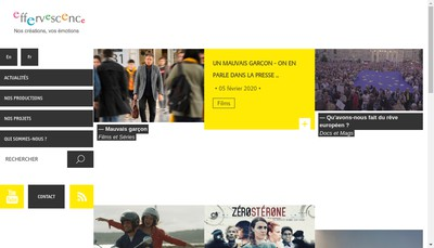 Site internet de Effervescence Label