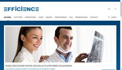 Site internet de Efficience