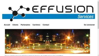 Site internet de Effusion Services
