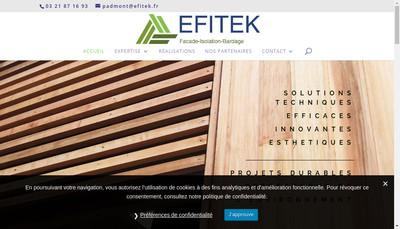 Site internet de Efitek