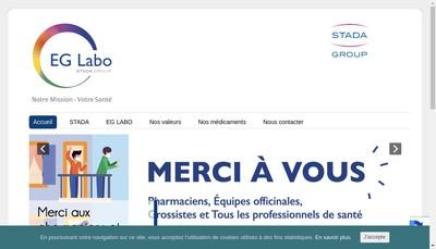Site internet de Eg Labo - Laboratoires Eurogeneric