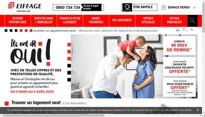 Site internet de Eiffage Immobilier Ile de France