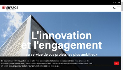 Site internet de Eiffage Construction Residentiel