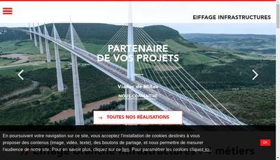 Site internet de Eiffage Travaux Maritimes et Fluviaux