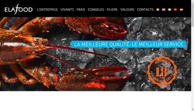 Site internet de Elafood