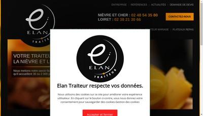 Site internet de Elan Traiteur