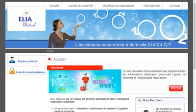 Site internet de Elia Medical Nord