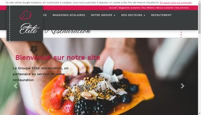 Site internet de Groupe Elite Restauration