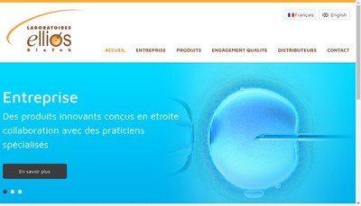 Site internet de Laboratoires Ellios Bio Tek