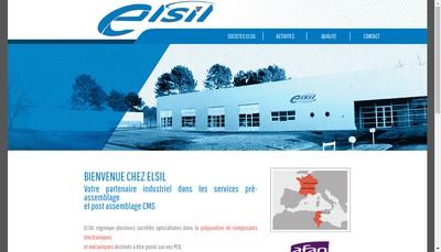 Site internet de Elsil Electronics Silicon
