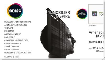Site internet de Em2C Groupe