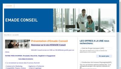 Site internet de Emade Conseil