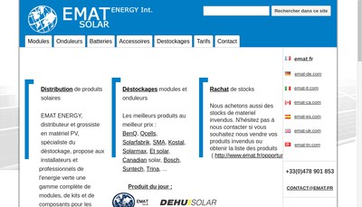 Site internet de Emat