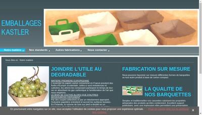 Site internet de Emballages Kastler