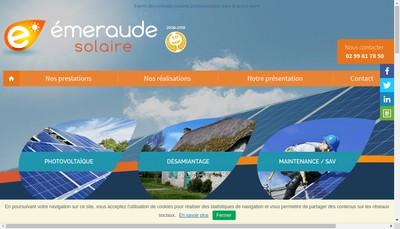 Site internet de Emeraude Solaire