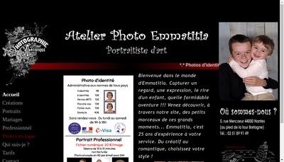 Site internet de Atelier Photo Emmatitia