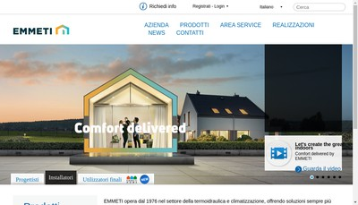 Site internet de Emmeti-Fiv France