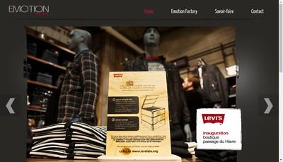 Site internet de Emotion Factory