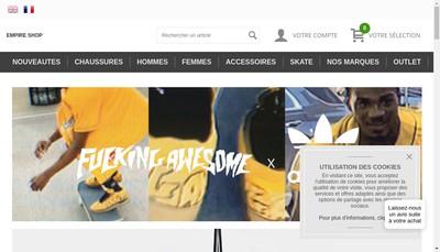 Site internet de Empire