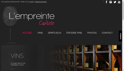 Site internet de L'Empreinte du Vin