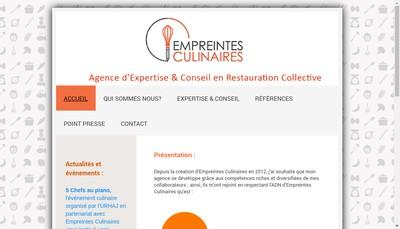 Site internet de Empreintes Culinaires
