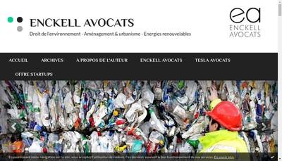 Site internet de SELARL Enckell Avocats