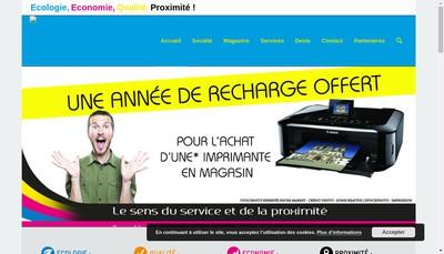 Site internet de Encre Market