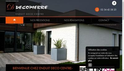 Site internet de SARL Enduit Deco Centre