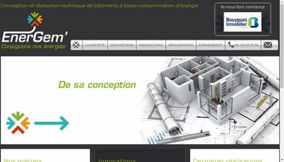 Site internet de Energem'