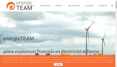 Site internet de Energieteam Exploitation