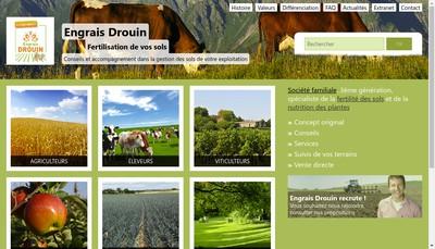 Site internet de Engrais Christian Drouin