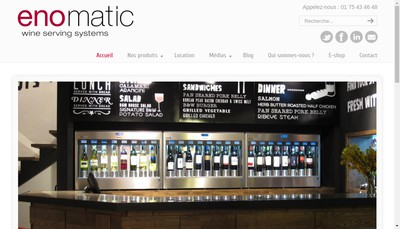 Site internet de Enomatic France