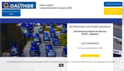 Site internet de Entreprise Gauthier