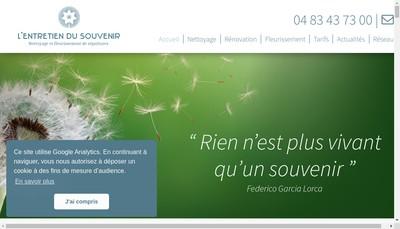Site internet de L'Entretien du Souvenir