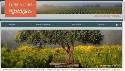 Site internet de Entre Vignes et Garrigues