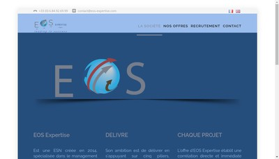 Site internet de Eos Expertise