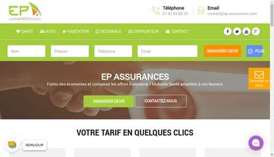 Site internet de Ep'Assurances