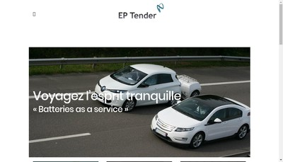 Site internet de Ep Tender