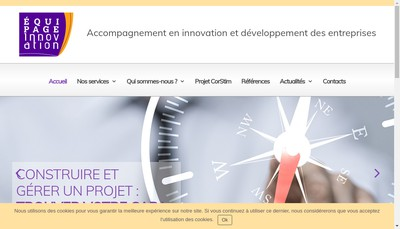 Site internet de Equipage Innovation