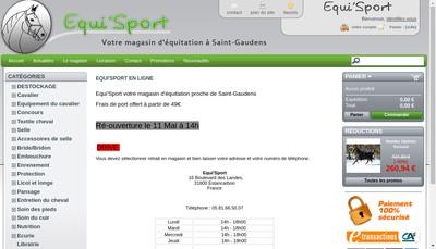 Site internet de Equi'Sport