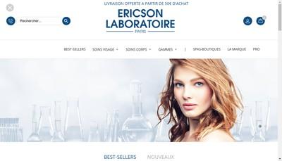 Site internet de Laboratoire Ericson
