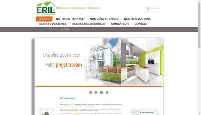 Site internet de Eril Entreprise de Renovation Interieur Lyonnaise