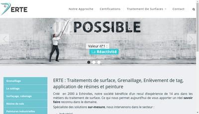 Site internet de SARL Erte
